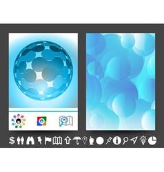 brochure design BLUE vector image