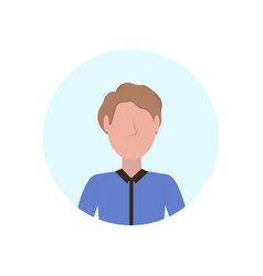 brown hair man avatar isolated faceless male vector image