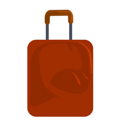 brown travel bag icon cartoon style vector image