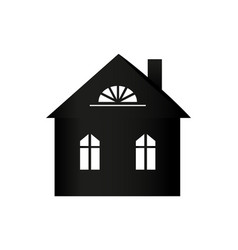 buildings silhouette colorless vector image