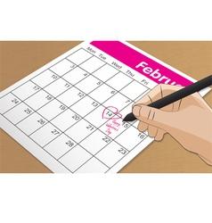 Calendar 14 feb vector
