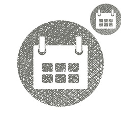 Calendar simple single color icon isolated on vector image