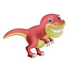 cartoon dinosaur vector image