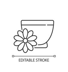 Chrysanthemum tea linear icon vector