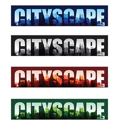 cityscape banners vector image