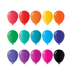 colorful balloon collection pack vector image