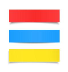 Colorful paper sheet set vector image