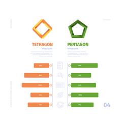 comparison graph business infographic selection vector image