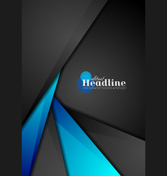 Contrast blue and black corporate background vector