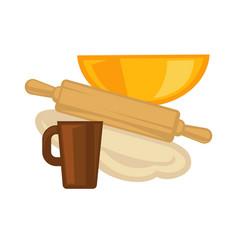 Cooking kitchenware baking utensils vector