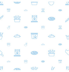 Cuisine icons pattern seamless white background vector