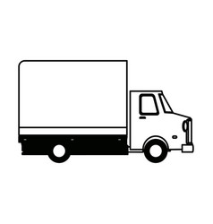 Delivery truck transport cargo business vector