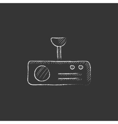 Digital projector Drawn in chalk icon vector