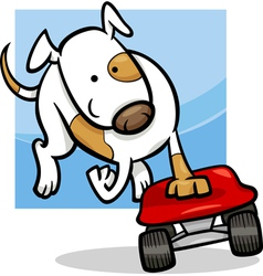 dog on skateboard cartoon vector image