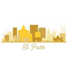 el paso texas usa city skyline golden silhouette vector image