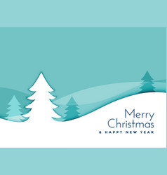 elegant christmas tree landscape scene in vector image