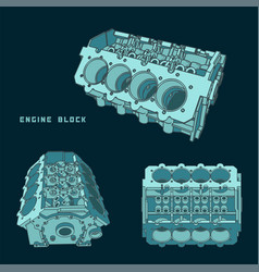 Engine block vector
