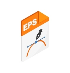 EPS icon isometric 3d style vector image