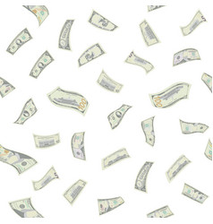 Flying dollars seamless pattern vector