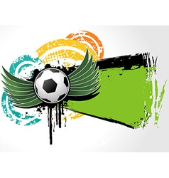 Football background grunge vector image