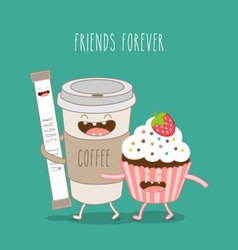 Friends forever vector image