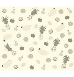 fruit pattern gray vector image