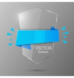 Glass banner template vector image