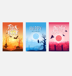 halloween time background concept border for vector image
