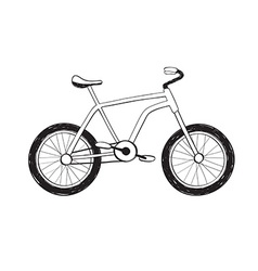 Hand drawn bycicle icon vector