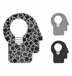 Head idea composition icon joggly parts vector