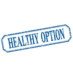 Healthy option vector