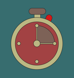 Icon in flat design stopwatch vector