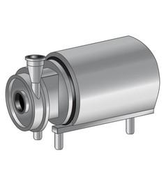 Industrial pump vector