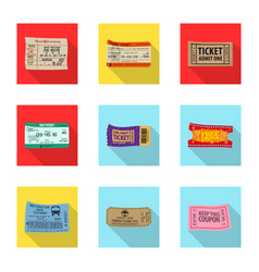 isolated object ticket and admission sign set vector image