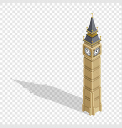 isometric highly detailed big ben tower on vector image