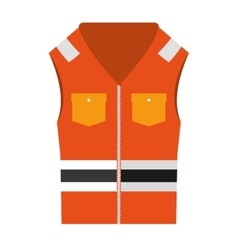 jacket uniform security icon vector image