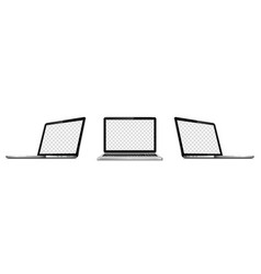 laptop mock up fo responsive web design vector image