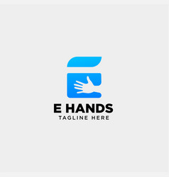 Minimal e letter initial hand logo template icon vector