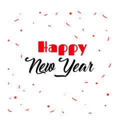 origami gold lettering of happy new year vector image