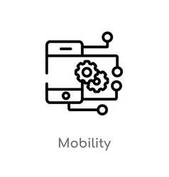 Outline mobility icon isolated black simple line vector