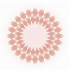 Pale pink-cream decorative circular ornament vector