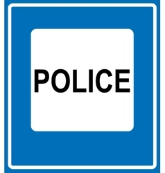 Police Road Sign Icon vector