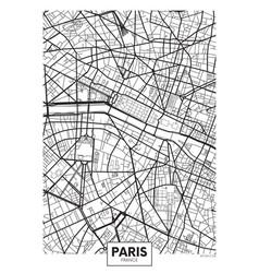 Poster map city paris vector