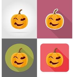 Pumpkins for halloween flat icons 07 vector