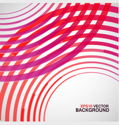 Red circle made lines white background vector
