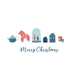 scandinavian style simple and stylish merry vector image