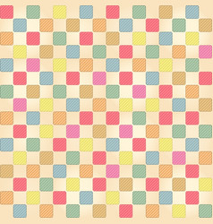 seamless cute colorful checkers pattern vector image