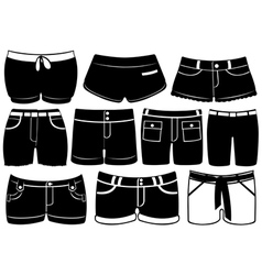 Set of different shorts vector image