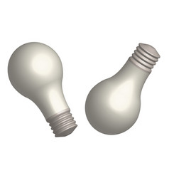 set of light bulbs in 3d view vector image