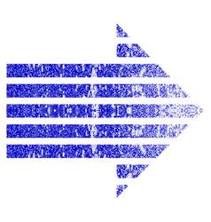 Stripe arrow right grunge textured icon vector